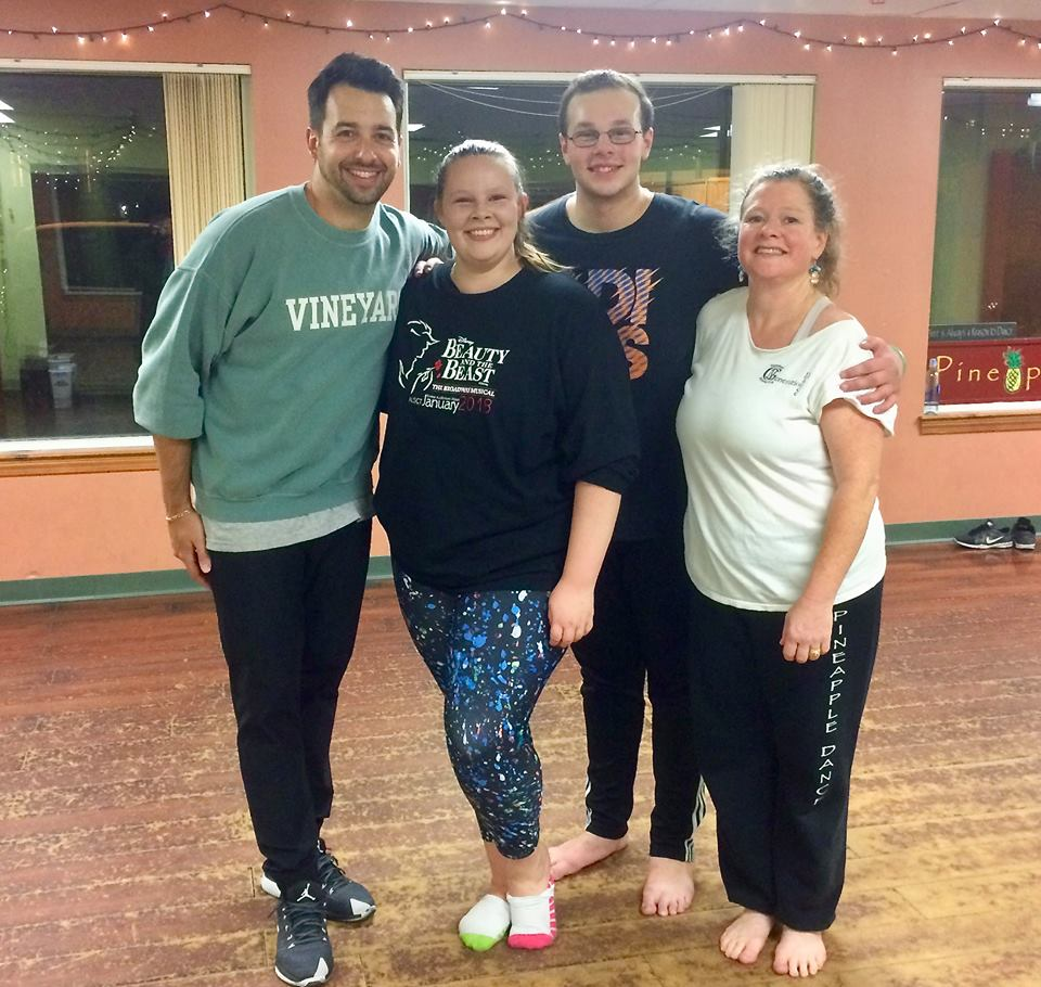 Nick Anthony and Pineapple Dance staff December 2017